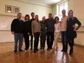 Russische Tanzlehrerkollegen in Wien mit Ihren Tanzschülern