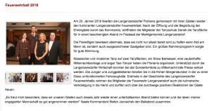 Langenzersdorfer Feuerwehrball 2017